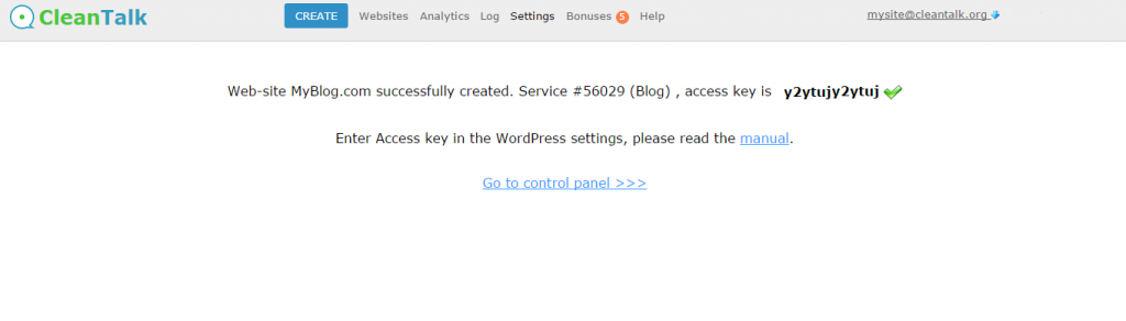 Website options  service