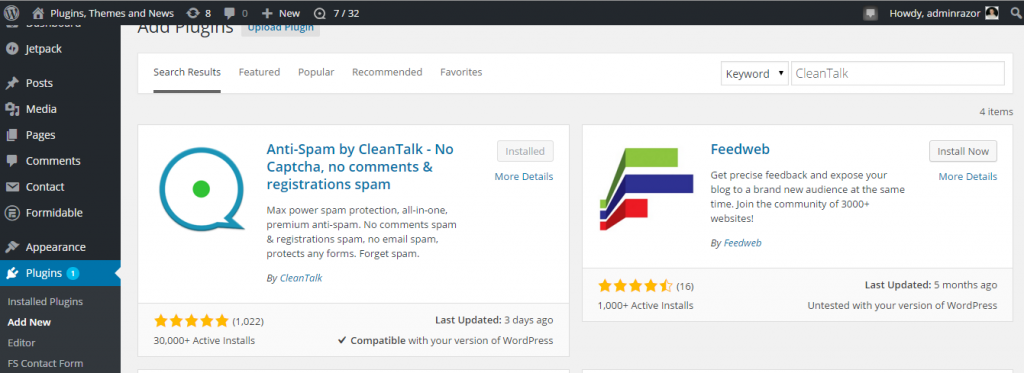 install CleanTalk
